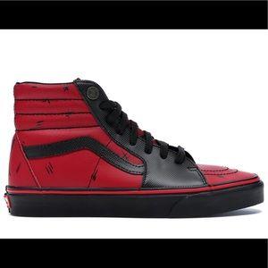 Vans Sk8-Hi Marvel Deadpool Sneakers mens 3.5